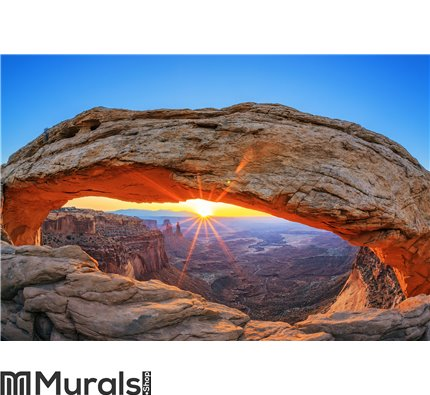 Sunrise at Mesa Arch in Canyonlands National Wall Mural Wall art Wall decor
