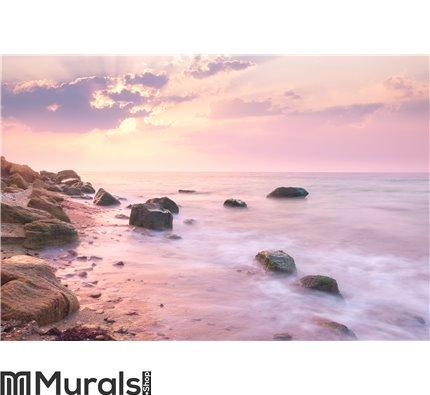 Sunrise landscape over beautiful rocky coastline Wall Mural Wall art Wall decor