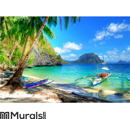 Tropical escape Wall Mural Wall art Wall decor