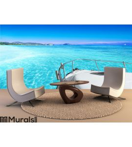 View from yacht Wall Mural Wall art Wall decor