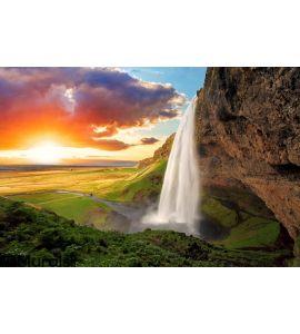 Waterfall, Iceland Wall Mural
