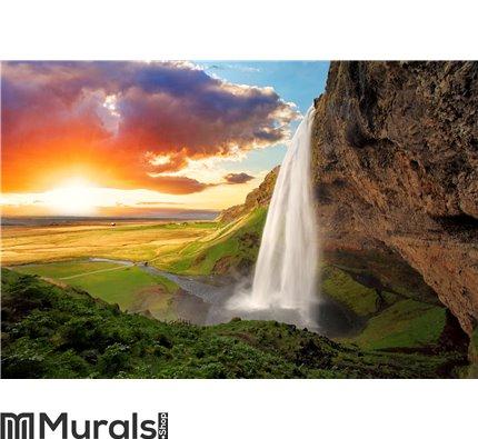 Waterfall, Iceland Wall Mural Wall art Wall decor
