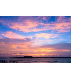 Sunset over Gili Trawangan, Indonesia Wall Mural