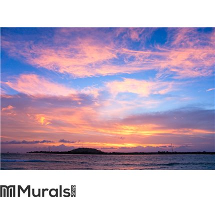 Sunset over Gili Trawangan, Indonesia Wall Mural Wall art Wall decor