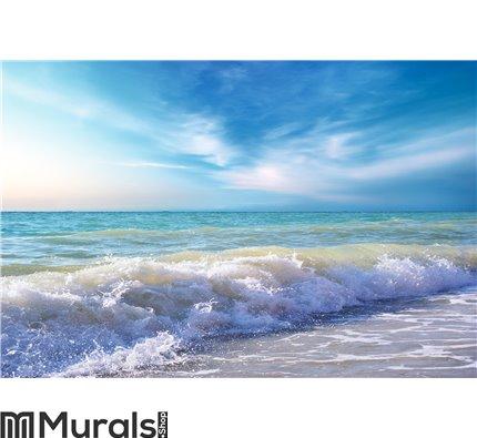 Beautiful coast of beach at day Wall Mural Wall art Wall decor