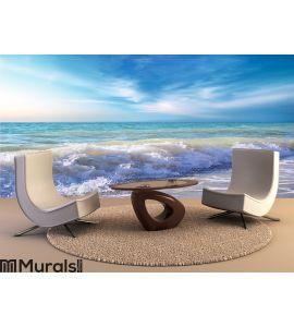 Beautiful coast of beach at day Wall Mural
