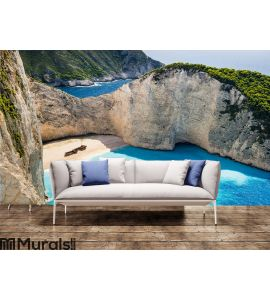 beautiful Navagio Beach Wall Mural