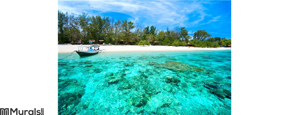 Beautiful sea at Gili Meno, Indonesia Wall Mural