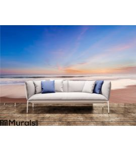 Beautiful sunset in southern california beach Wall Mural Wall art Wall decor