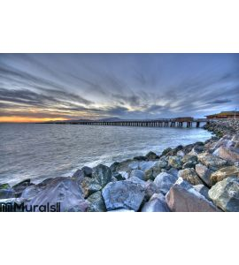 Berkeley Marina Sunset View Wall Mural Wall art Wall decor
