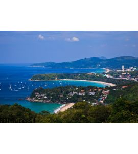 Bird eye view of Phuket, Thailand Wall Mural