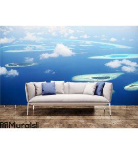Blue Infinity Wall Mural Wall art Wall decor