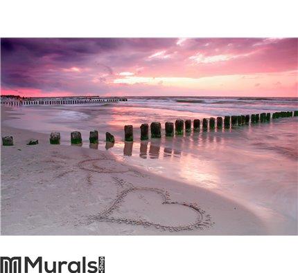 Love at sunset Wall Mural Wall art Wall decor