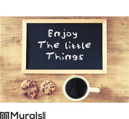 Enjoy The Little Things Background phrase Wall Mural Wall art Wall decor