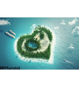 Heart island Wall Mural Wall art Wall decor