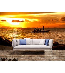 Kayak relax Wall Mural Wall art Wall decor