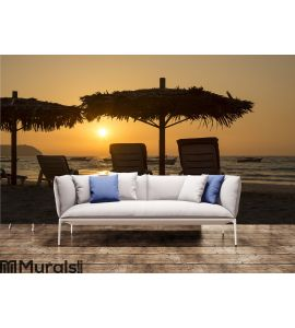 Ngapali Beach Sunset Wall Mural Wall art Wall decor