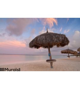 Palm Beach Sunrise, Aruba Wall Mural